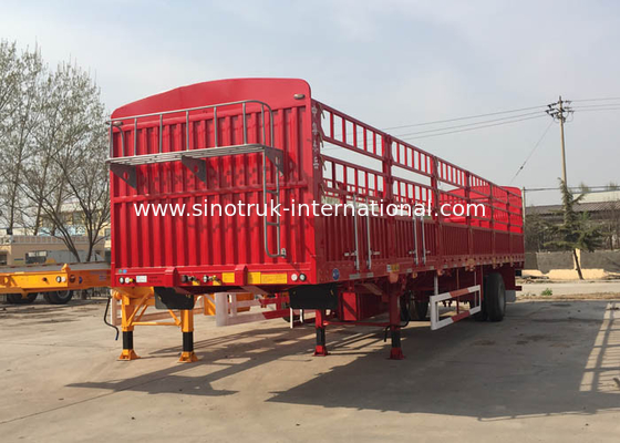 China Carbon Steel Semi Truck And Trailer Big Truck Trailer 28T JOST factory
