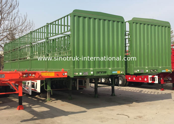 China Dropside Commercial Truck Trailer CIMC 3 Axles 30-60 Tons 13-16m factory