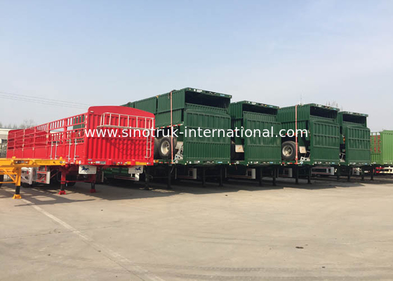 China ISO Dropside Semi Trailer Truck 3 Axles Semi Truck With Trailer factory