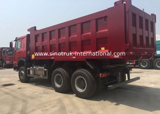 China LHD 6X4 SINOTRUK HOWO Dump Truck With MINI Player 30 - 40 Ton WD615.47 Engine factory