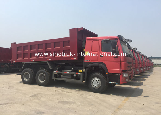 China SINOTRUK HOWO Tipper Dump Truck 10 - 25CBM With Air Suspension Seat MINI Player factory