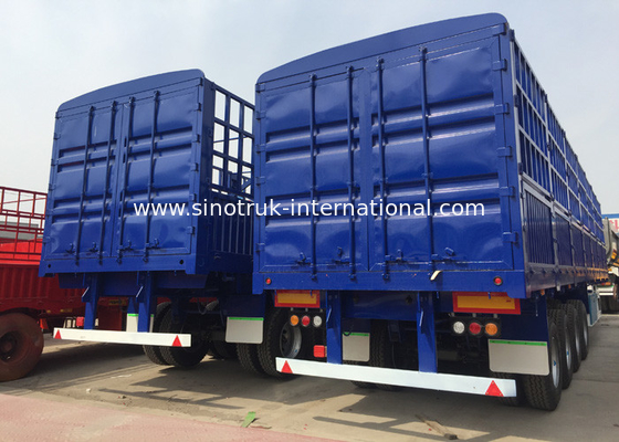 Multi Color Semi Low Bed Trailer , Normal Suspension Semi Equipment Trailer