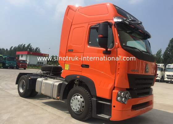 China Euro 2 Tractor Trailer Truck / Large Capacity HOWO Tractor Dump Truck factory