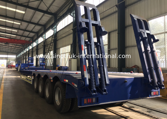 China Four Axles Lowbed Semi Truck And Trailer With ISO / 3C / BV / IFA / SGS Certification factory