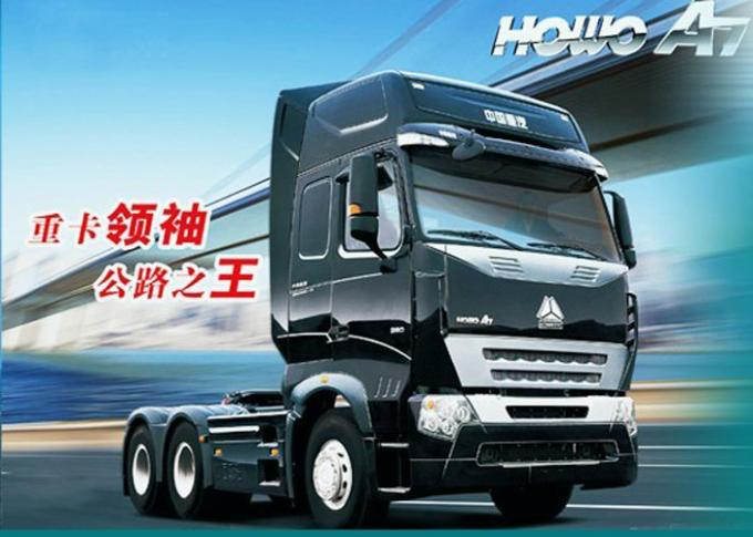 SINOTRUK HOWO Semi Trailer A7 Head Tractor With Air Conditioner