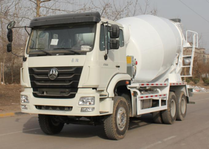 Mobile Semi Cement Mixing Equipment Concrete Mixer Truck 10CBM 290HP