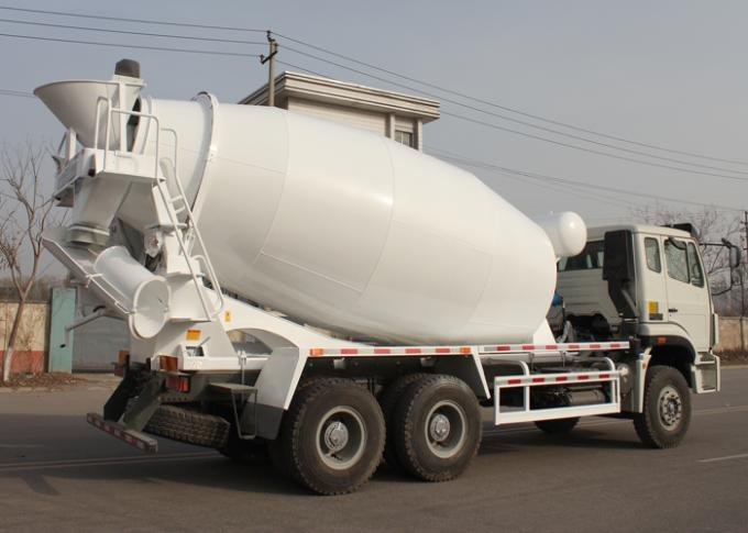 Commercial Concrete Mixer Truck , Concrete Mixer Trailer Euro2 336HP 6X4 LHD