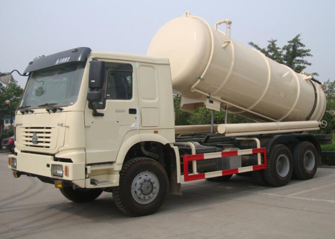 Vacuum Suction Vehicle 15-18CBM RHD Vacuum Tank Truck With Pipe System