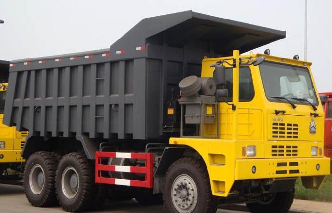 White SINOTRUK HOWO 371 Heavy Duty Dump Truck 6 By 4 Ten