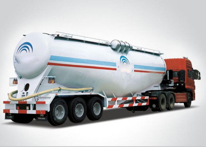 Carbon steel Semi Trailer Powder Material Tank Truck , 50 - 60 CBM trailer