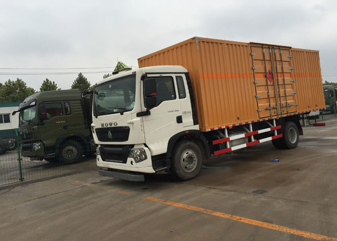 High Security Van Cargo Truck SINOTRUK HOWO 4X2 LHD Euro 2 Lorry Vehicle